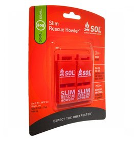 Survive Outdoors Longer SOL Slim Rescue Howler Whistle Pkg/2