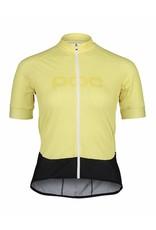 POC POC Essential Road Logo Women's Jersey Lt Sulfur Yellow