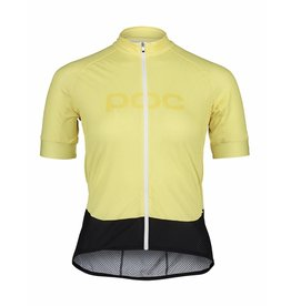 POC POC Essential Road Logo Women's Jersey Lt Sulfur Yellow
