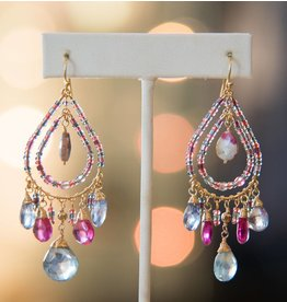 Catherine Page Jewelry Palm Earring-Hot Pink