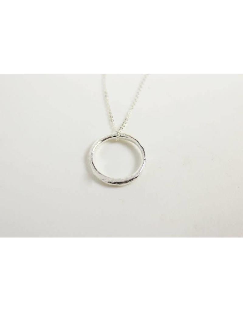 Robin Haley Eternity Ring Necklace Silver