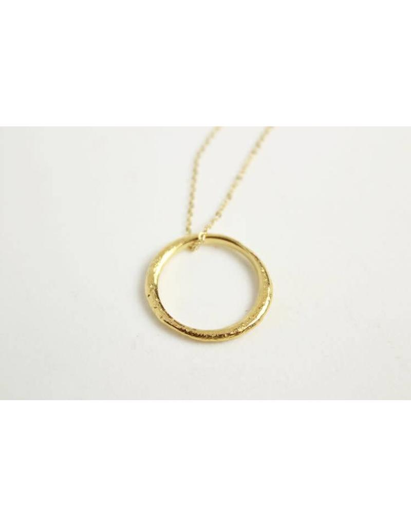 Robin Haley Large Eternity Ring Necklace Gold
