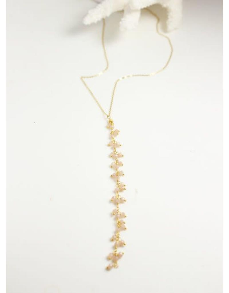 Robin Haley Rose Quartz Y Necklace