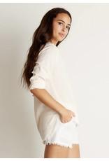 Bella Dahl Frayed Shirt Tail Button Down