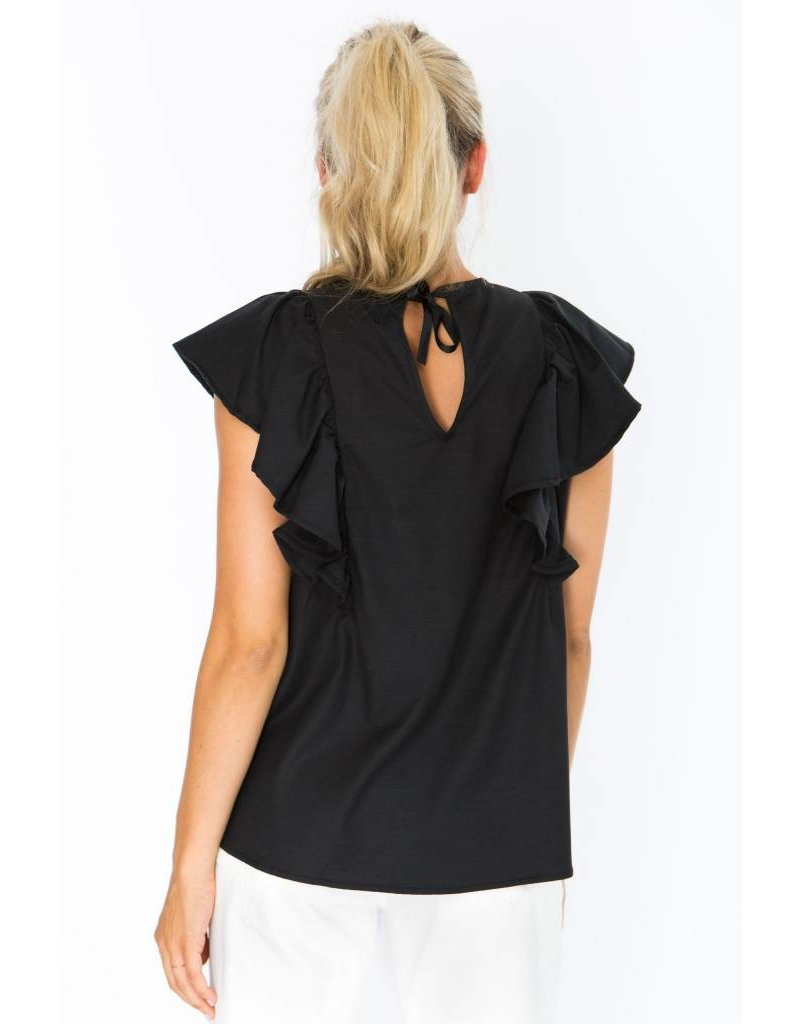 Crosby Ruffle Sleeve Top
