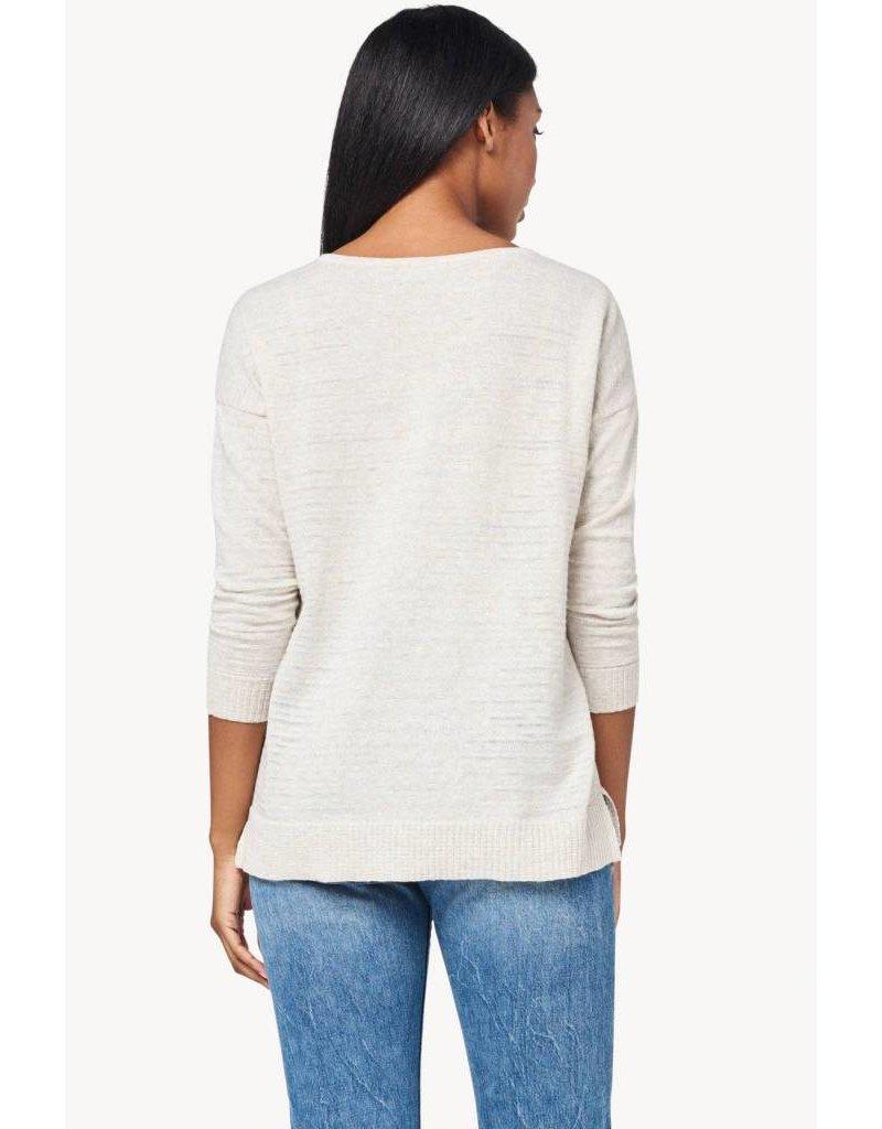 Lilla P 3/4 Sleeve Split Neck Pullover