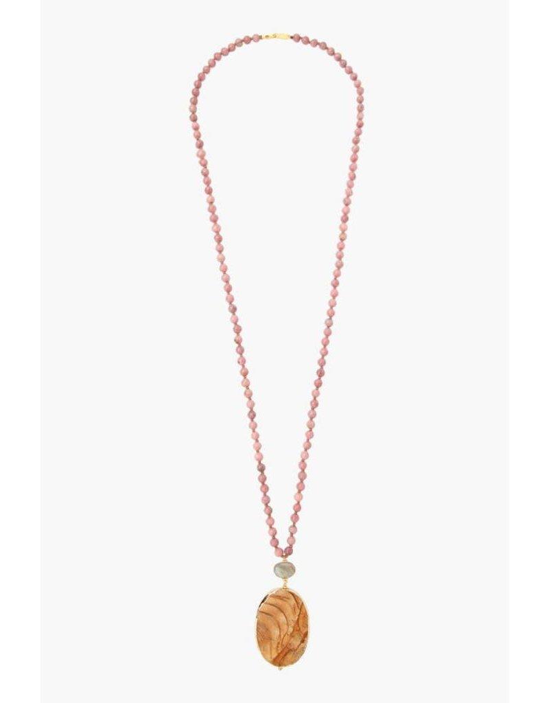Chan Luu Rhodonite Mix Long Necklace