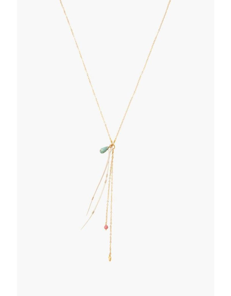 Chan Luu Leather Tassel Long Necklace