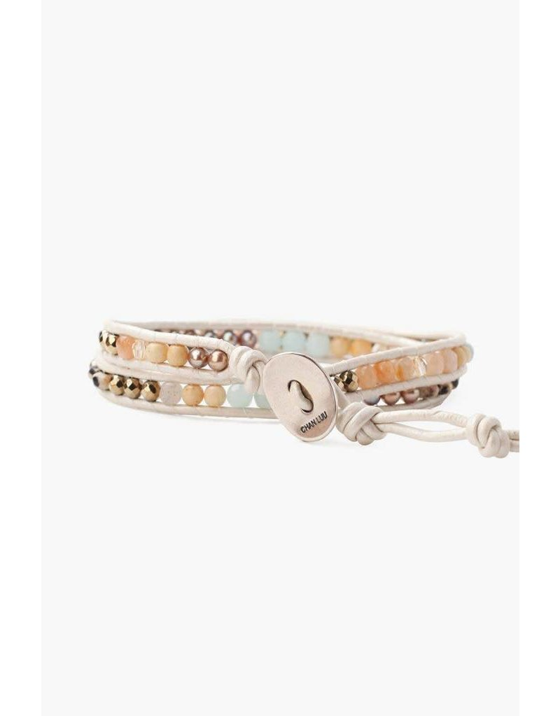 Chan Luu Mix Amazonite Double Wrap Bracelet
