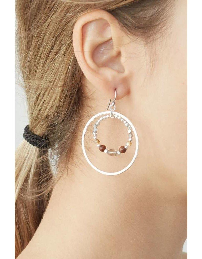 Chan Luu Mix Double Hoop Earring Pink