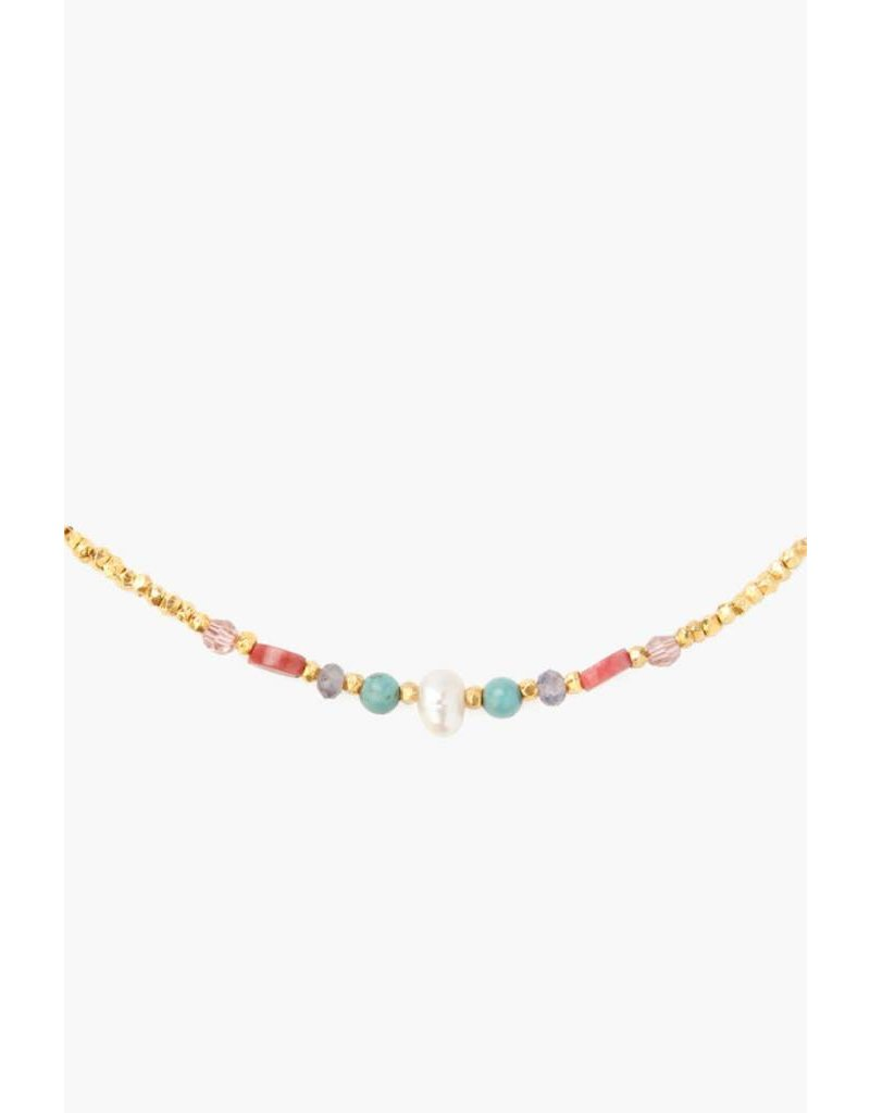 Pink Mix Short Necklace