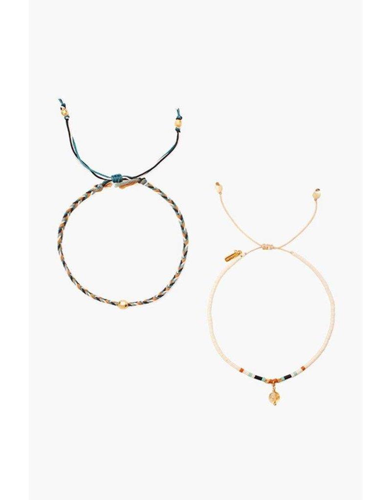 Chan Luu Seed Bead Pull Cord Bracelet