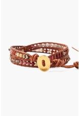 Chan Luu Smokey Quartz Double Bracelet
