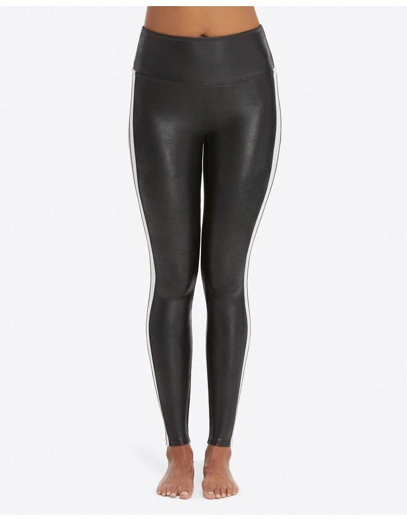 Spanx Stripe Leather Legging