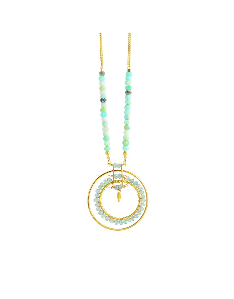 Catherine Page Jewelry Mantra Necklace Peruvian Opal