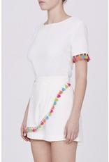 Amanda Uprichard Multi Colored Tassel Sleeve Top