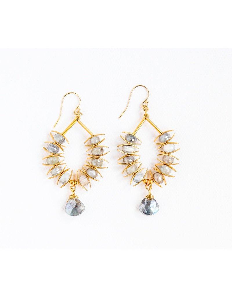 Catherine Page Jewelry Laurel Beaded Hoop Earring