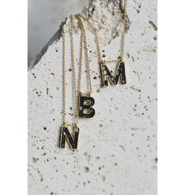 Joya Deco Diamond Alphabet Necklace