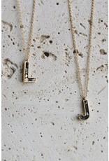 Joya Deco Diamond Alphabet Necklace