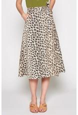Joie Leopard Print Skirt