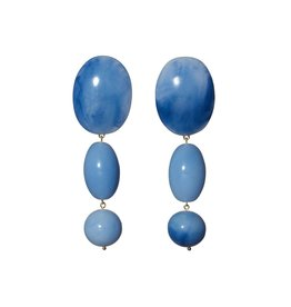 Lele Sadoughi Resin Bubble Drop Earring Cobalt