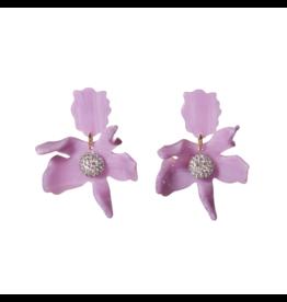 Lele Sadoughi Small Crystal Lily Earring Lilac