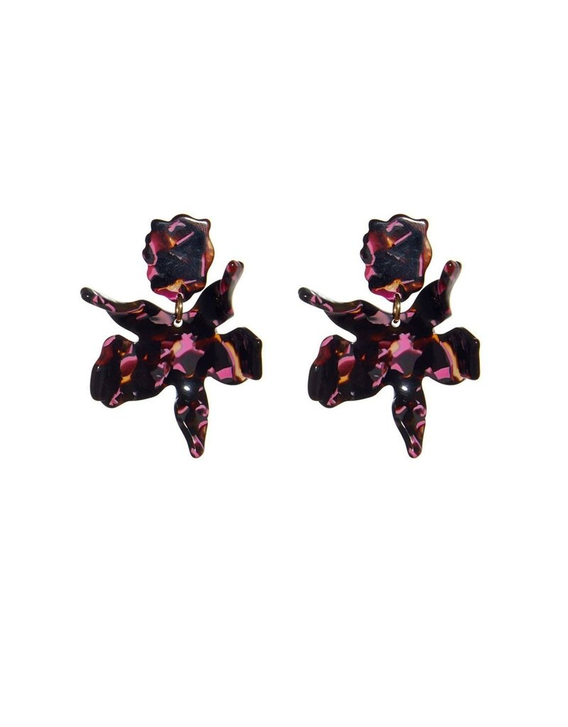 Lele Sadoughi Small Paper Lily Earring