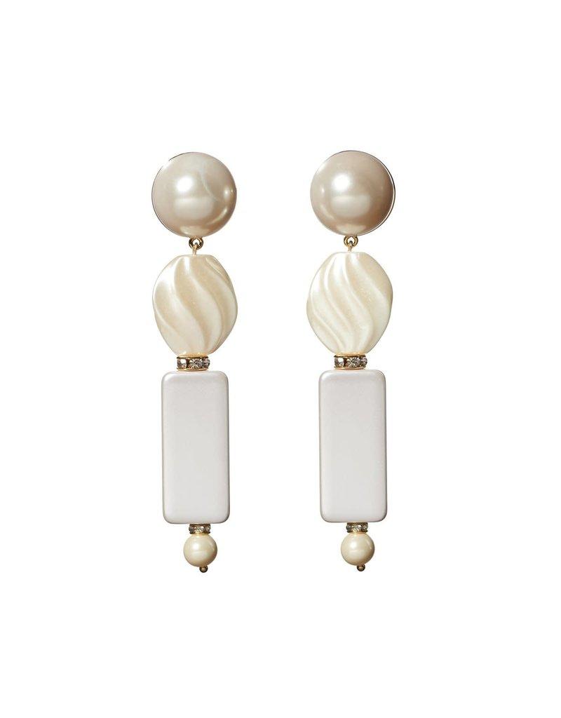 Lele Sadoughi Stacked Stone Earring