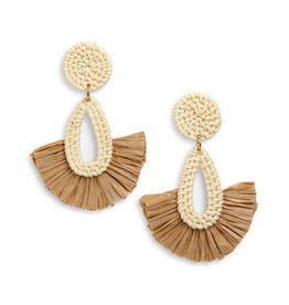 Neely Phelan Rattan Fan Drop Earring