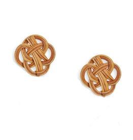 Neely Phelan Rattan Stud Earrings