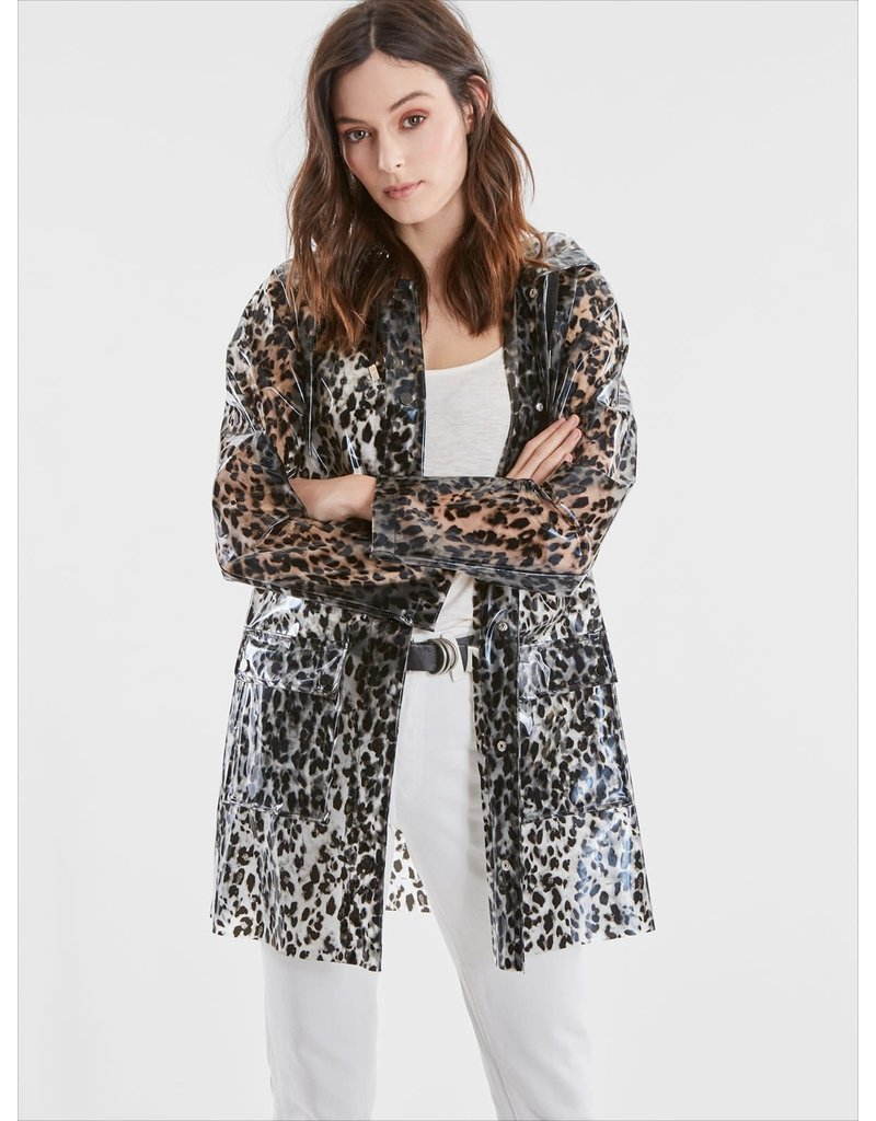 525 America Leopard Print Rain Coat