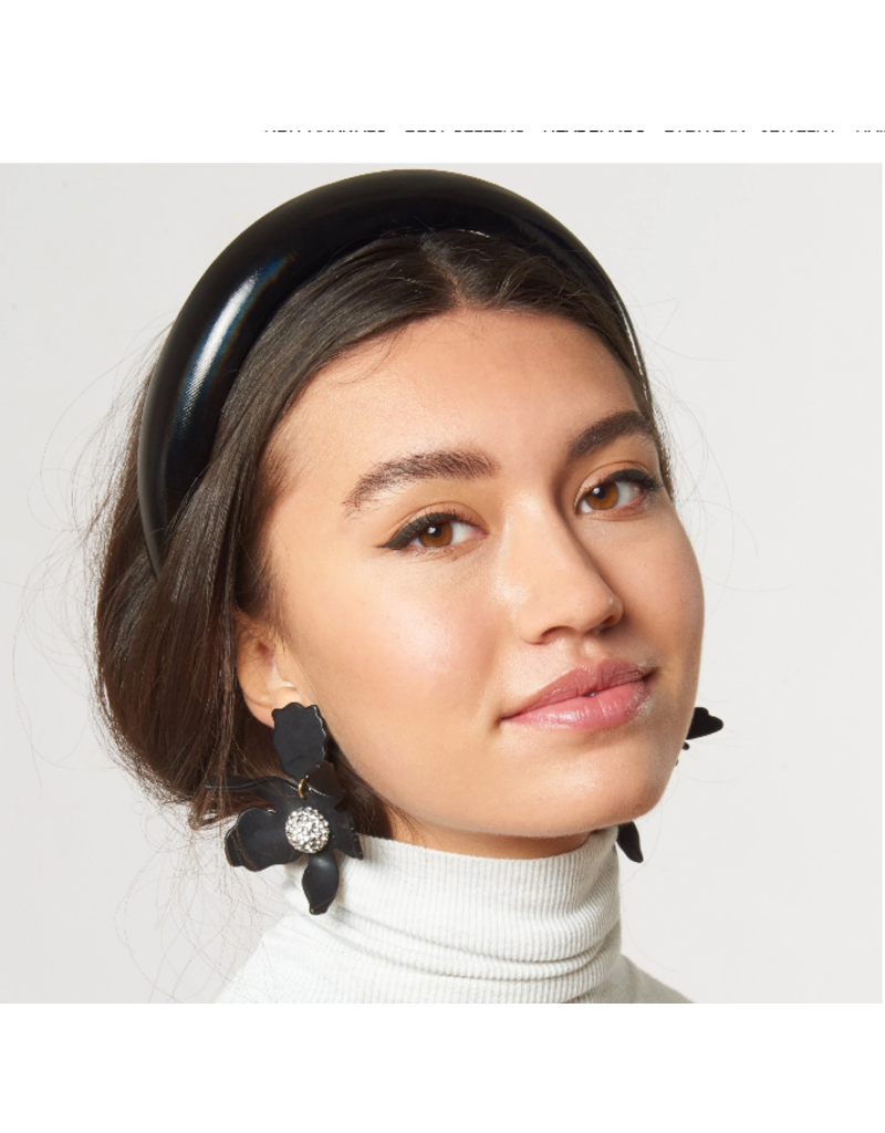 Lele Sadoughi Padded Headband Jet Gloss