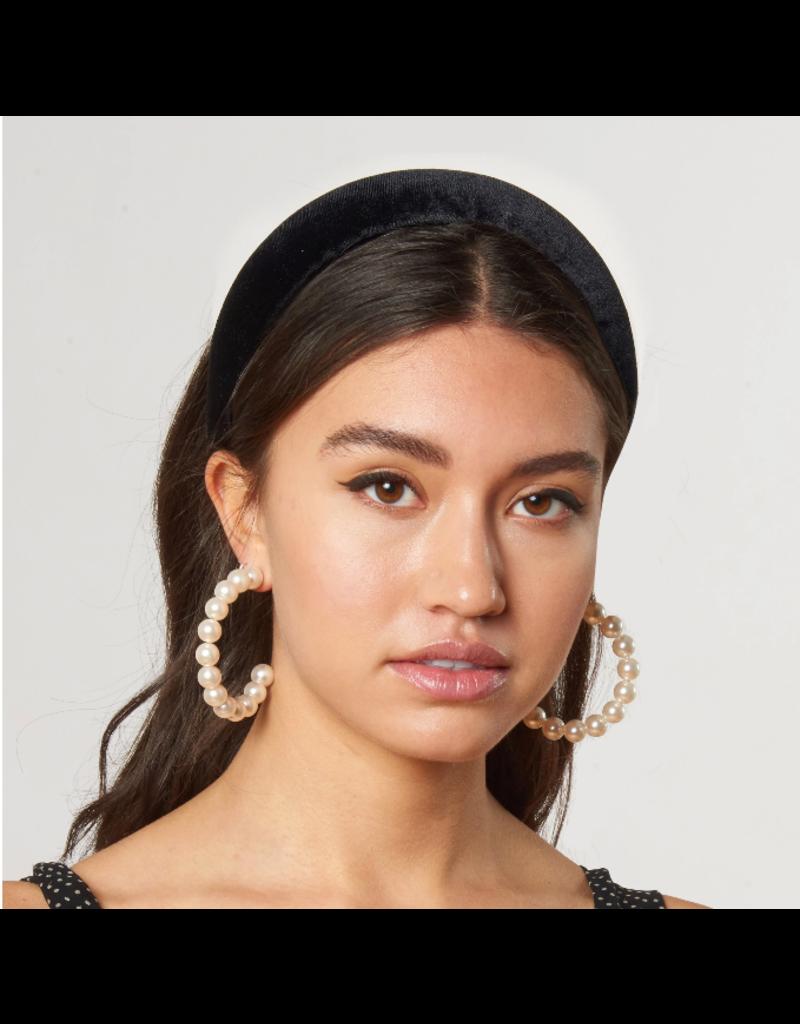 Lele Sadoughi Velvet Padded Headband Black