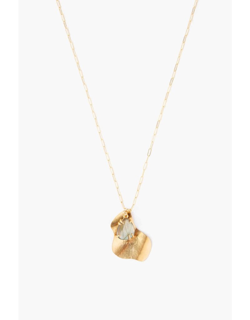 Chan Luu Hammered Pendant Necklace