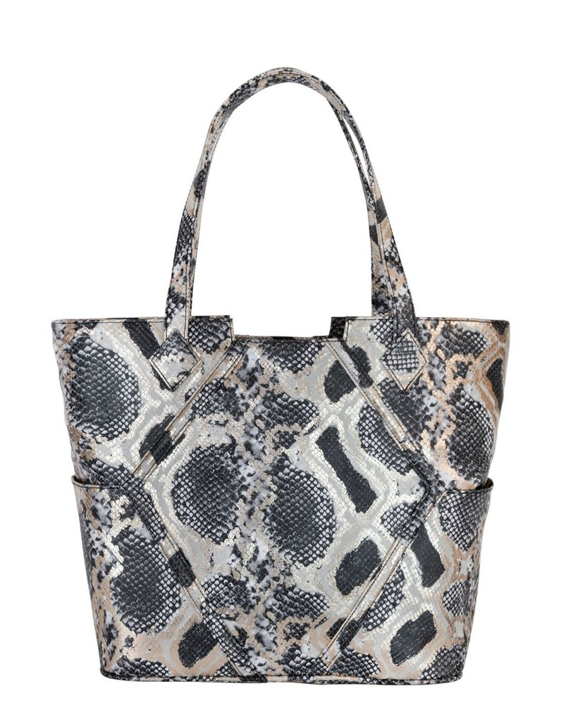 Kelly Wynne Paint The Town Tote Black Gold Python