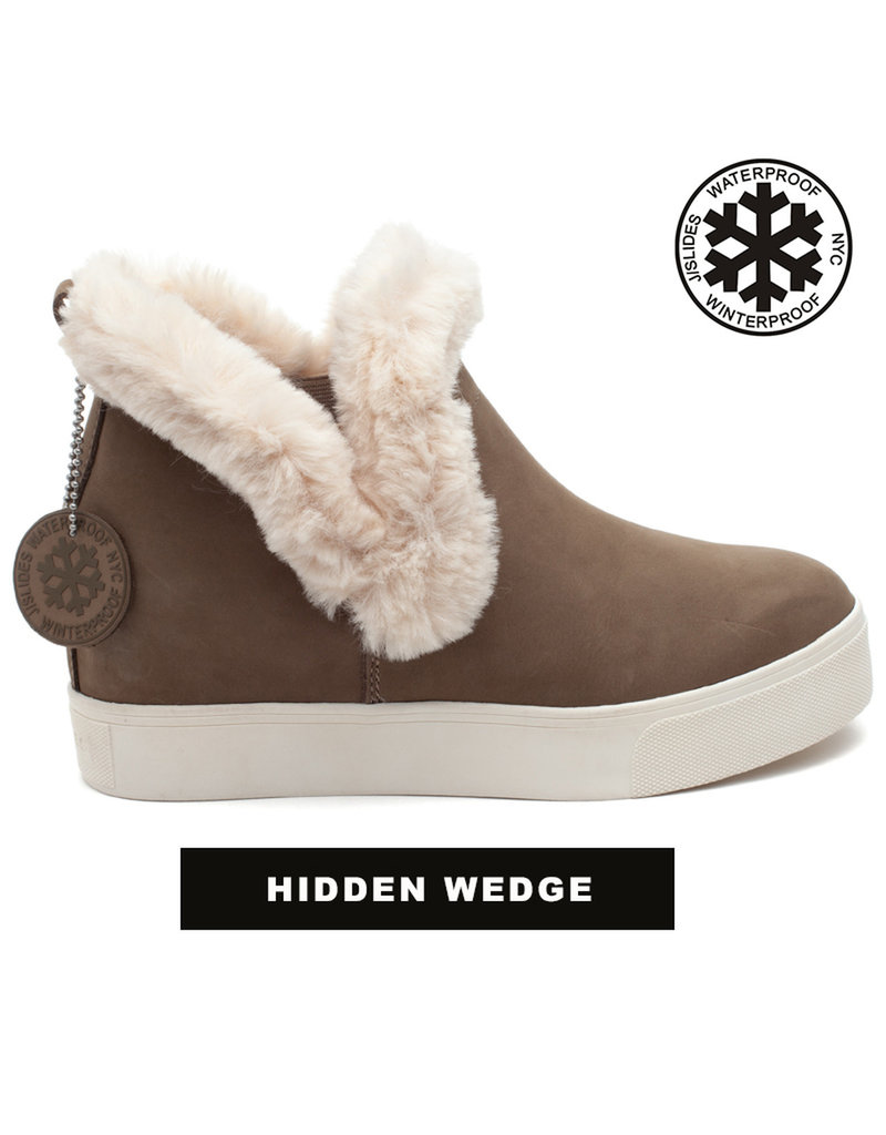 J Slides Fur Lined Wedge Bootie