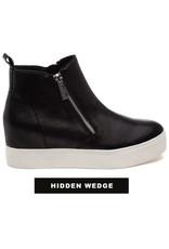 J Slides Wedge Side Zip Bootie