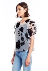 Amanda Uprichard Floral Puff Sleeve Blouse