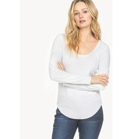 Lilla P Back Seam Scoop Neck Tee