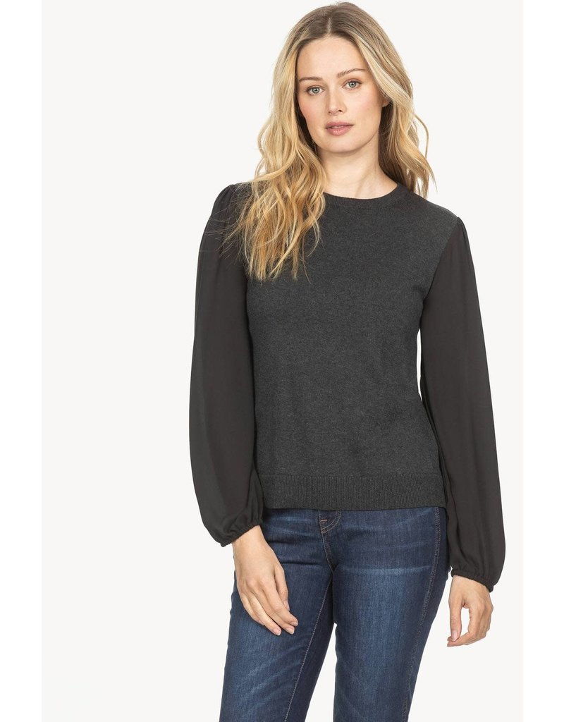 Lilla P Full Sleeve Crewneck Blouse