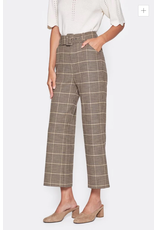 Joie Cropped Plaid Pant