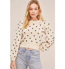 ASTR Polka Dot Sweater