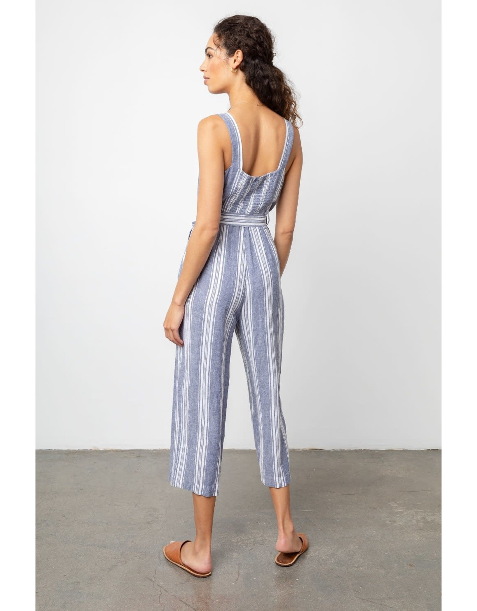 Rails Button Tie Waist Jumpsuit