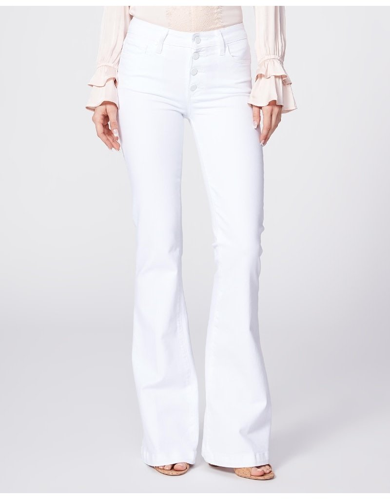 Paige Genevieve Petite w/ Exposed Buttonfly Crisp White