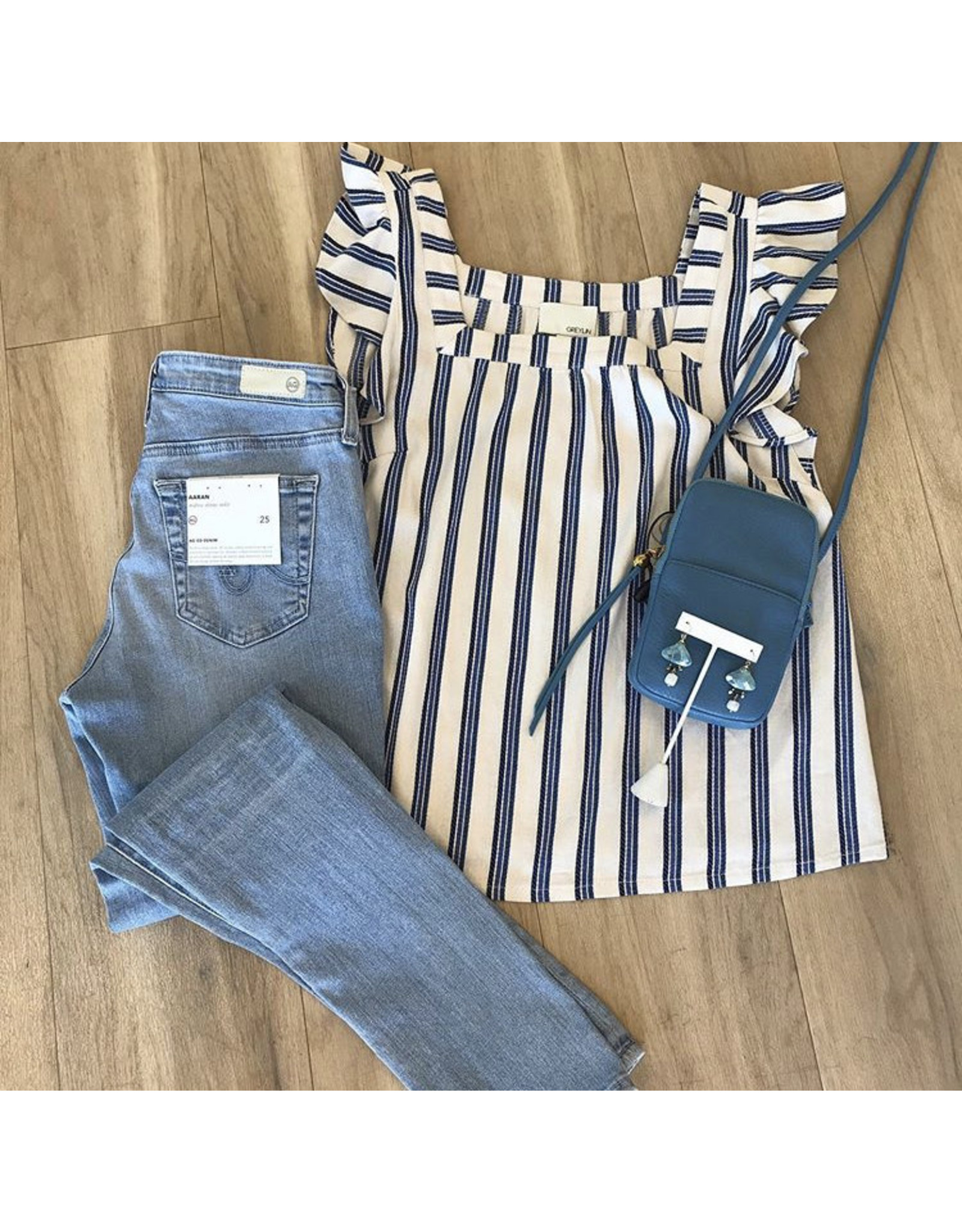Greylin Stripe Blouse