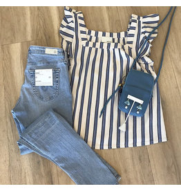 Greylin Stripe Blouse