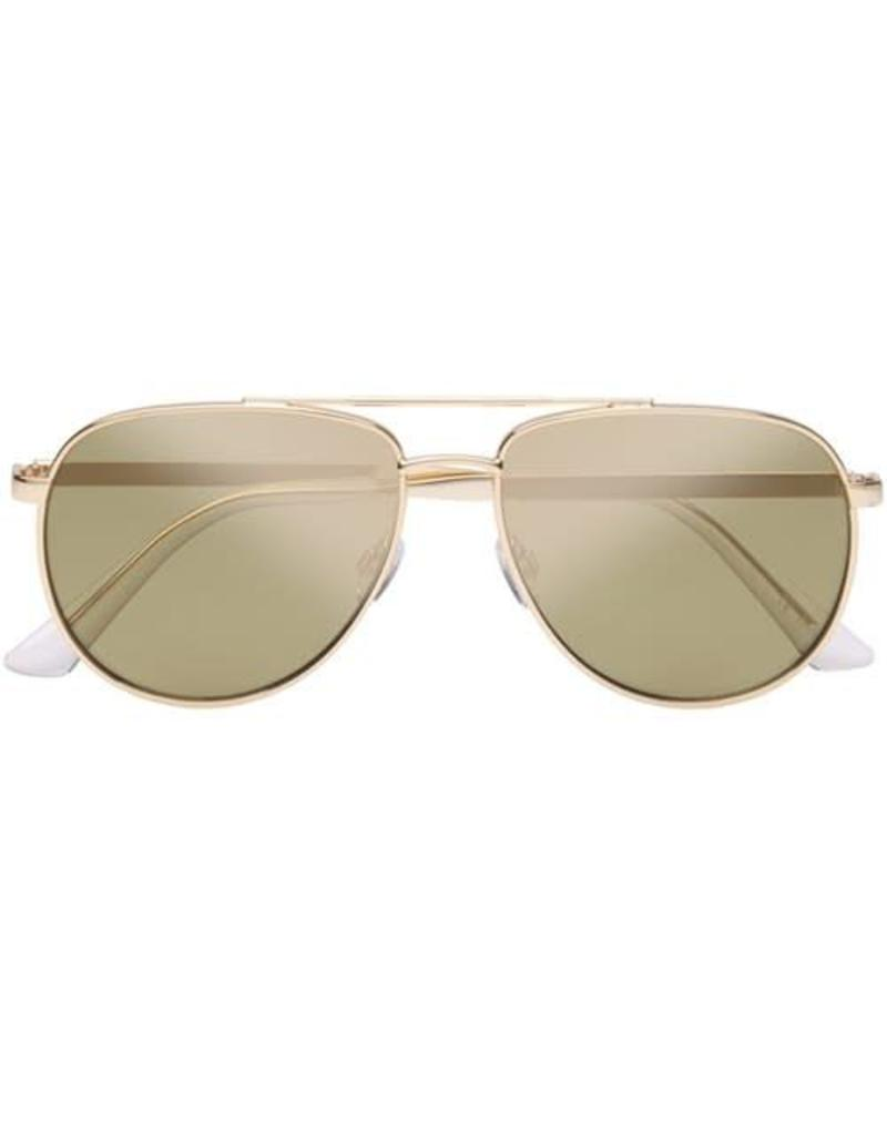Le Specs Hard Knock Sunglasses Bright Gold