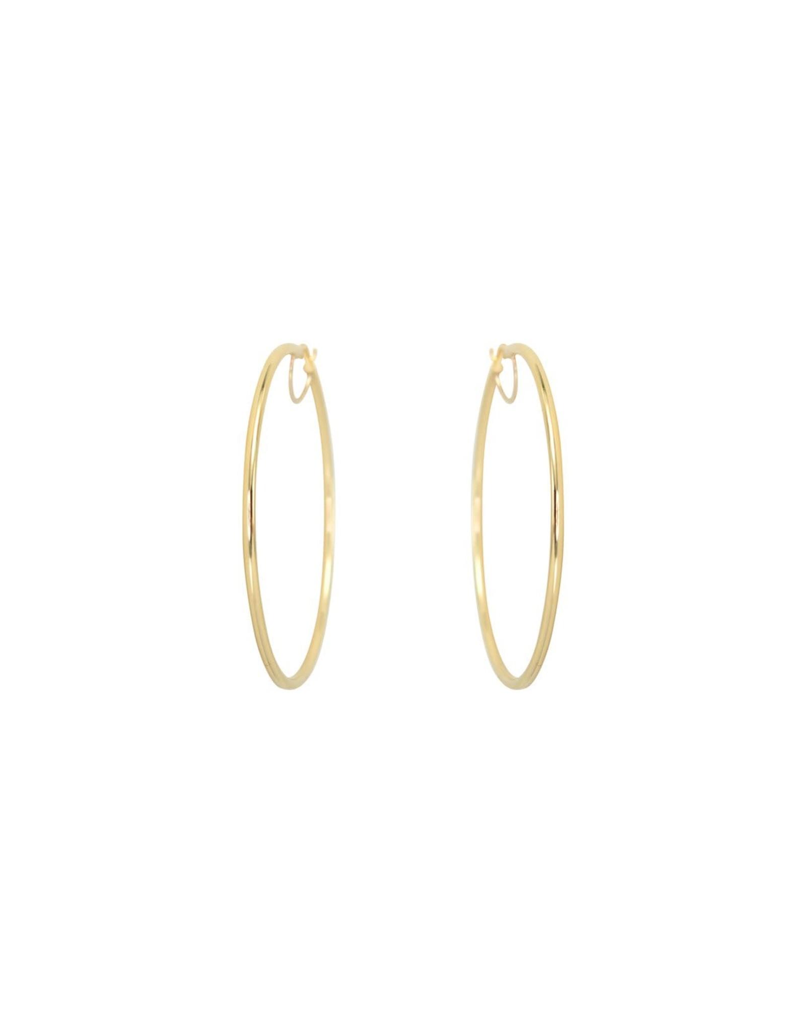 Boucles d'oreilles Grandes anneaux créoles Or 10K