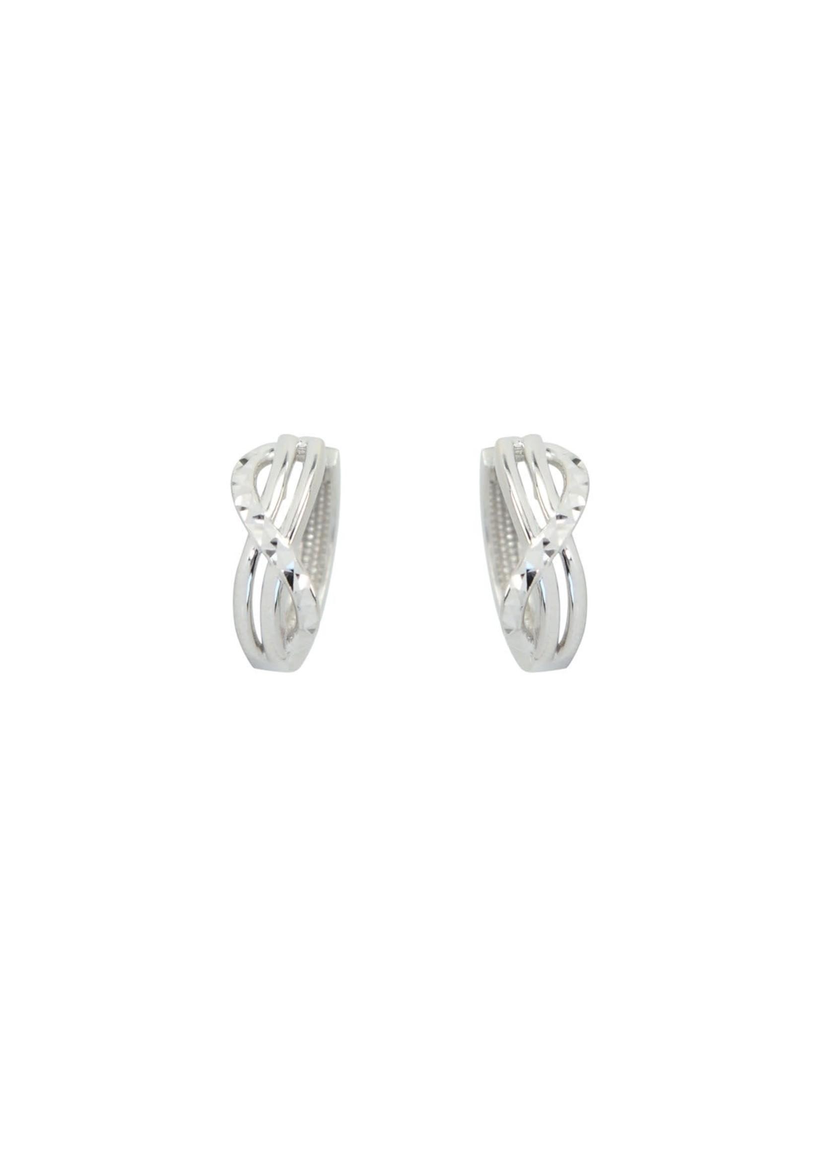 Boucles d'oreilles Infini Huggies Or blanc 10K