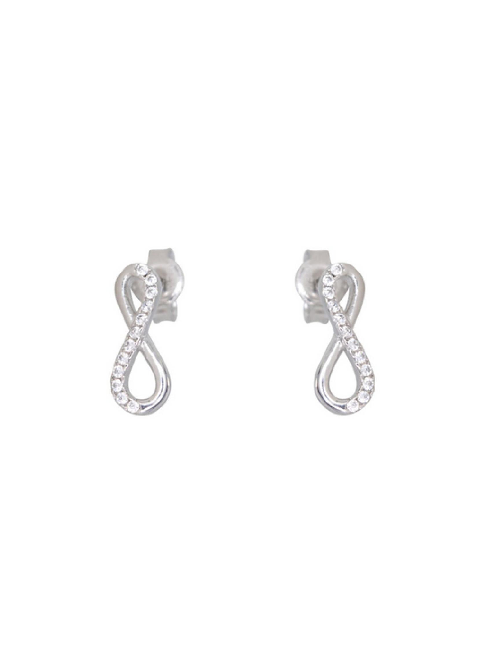 Boucles d'oreilles Infini Or blanc 10K